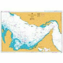 2837 Strait of Hormuz to Qatar Admiralty Chart