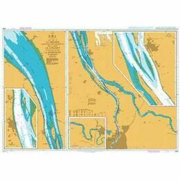 3068 La Gironde, La Garonne to Bordeaux Admiralty Chart