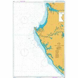 3328 Gabon, Libreville to Gamba Admiralty Chart