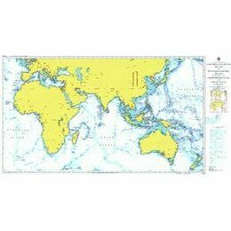4016 E. Atlantic to W. Pacific inc. Med. & Indian - Admiralty Chart