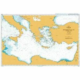 4302 Mediterranean Sea - Eastern Part Admiralty Chart