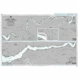 609 River Gambia Albreda to Kuntaur Admiralty Chart