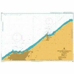 860 Approaches to Casablanca and Mohammedia Admiralty Chart