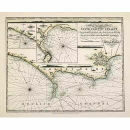 A New Chart of the South Coast of England ARC 5441 Admiralty Collection Archive Chart
