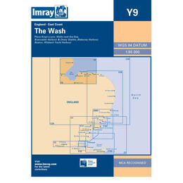 Imray Chart Y9 The Wash Skegness to Blakeney