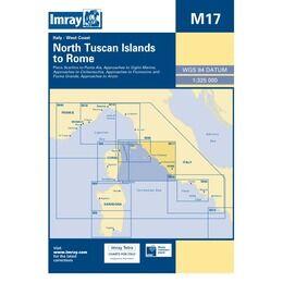 Imray Chart M17 North Tuscan Islands to Rome