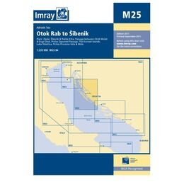 Imray Nautical Chart M25 Otok Rab to Sibenik