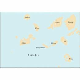 Imray Chart G33 Southern Cyclades (Sheet 1 - West)