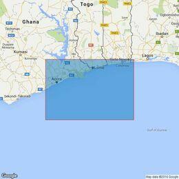 1384 Tema to Cotonou Admiralty Chart