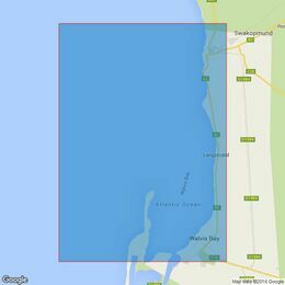 4138 South Africa - West Coast - Namibia, Approaches to Walvis Bay Admiralty Chart