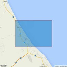 2853 Gulf of Oman, Approaches to Sohar Admiralty Chart