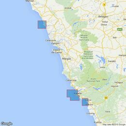 3464 Ports and Anchorages on the West Coast of India Admiralty Chart
