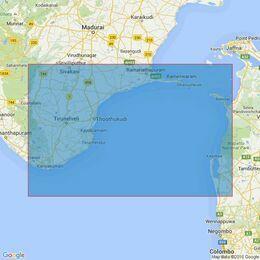 1586 Pamban to Cape Comorin Admiralty Chart
