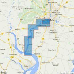 135 Hugli River Kukrahatti Reach to Calcutta Docks Admiralty Chart