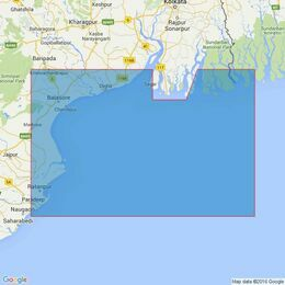 814 The Sandheads - Paradip to Raimangal River Admiralty Chart