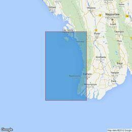 818 Mun Aung Island to Bassein River Admiralty Chart