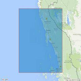 824 Heinze Islands to Mergui Admiralty Chart