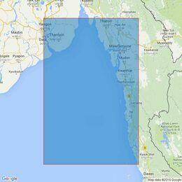 826 Rangoon River to Heinze Islands Admiralty Chart