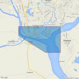 833 Rangoon River and Approaches Admiralty Chart