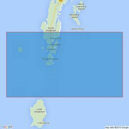 1398 Southern Approaches to Port Blair including Duncan Passage Admiralty Chart