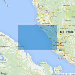 3945 Kepulauan Sembilan to Port Kelang including Pandang and Kepulauan Aruah Admiralty Chart