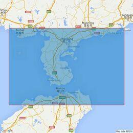 3892 Beihai Gang to Hailingshan Gang including Qiongzhou Haixia Admiralty Chart