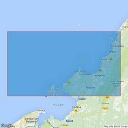 2111 Labuan to Kota Kinabalu Admiralty Chart