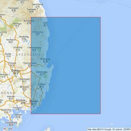 3666 Pusan Hang to Chukpyon Hang Admiralty Chart