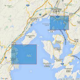 3469 Ports in Hiroshima Wan Admiralty Chart