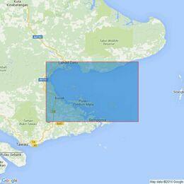 1680 Malaysia, Sabah-East Coast ,Teluk Darvel Admiralty Chart