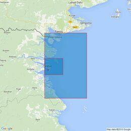 1852 Tanjung Mangkapadie to Tawau including Lingkas- Bunyu and Approaches Admiralty Chart