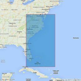 2710 Delaware Bay to Straits of Florida Admiralty Chart