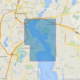 2731 Narragansett Bay Hog Island Shoal to Providence Harbor Admiralty Chart