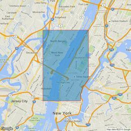 3454 New York - Hudson River, Hoboken to Edgewater Admiralty Chart