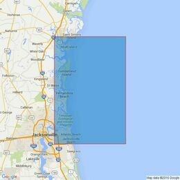 3691 Outer Approaches to Brunswick- Fernandina and Jacksonville Admiralty Chart