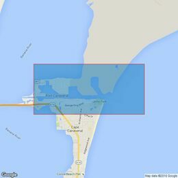 3692 Approaches to Port Canaveral Admiralty Chart