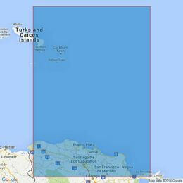 3908 Passages Between Turks & Caicos Islands and Dominican Republic Admiralty Chart