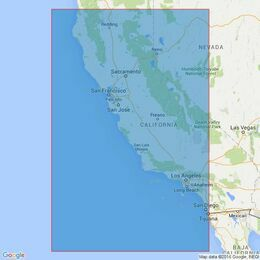 2530 San Diego Bay to Cape Mendocino Admiralty Chart
