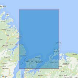 543 Approaches to Baia De Sao Marcos Admiralty Chart