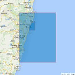 969 Recife and Approaches Admiralty Chart