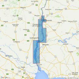 3549 Rio Uruguay - Nueva Palmira to Colon Admiralty Chart
