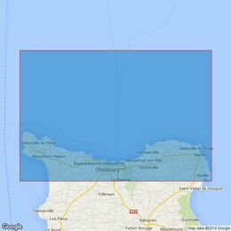 1114 France North Coast, Approaches to Cherbourg , Cap de la Hague to Pointe de Barfleur Admiralty Chart