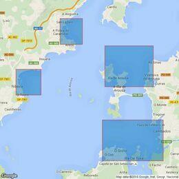 1755 Plans in Ria de Arousa Admiralty Chart