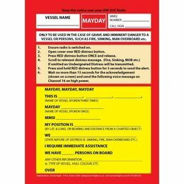 Mayday Cockpit Procedure Card for DSC VHF