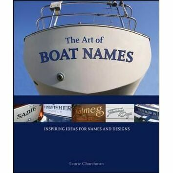 The art of boat names (slight fading on binder)