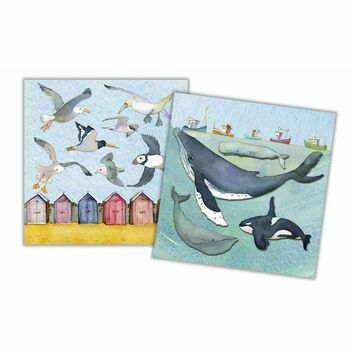 Emma Ball Sealife Mini Cards (Pack of 10)