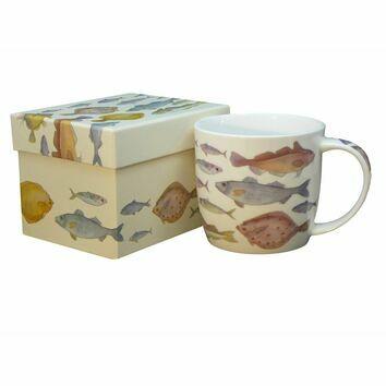 Fishes Bone China Mug and Gift Box