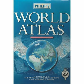 Philips World Atlas (Slight fading/marks on sleeve)