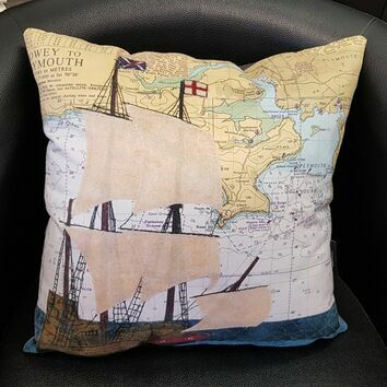 Hannah Wisdom Plymouth Mayflower Cushion