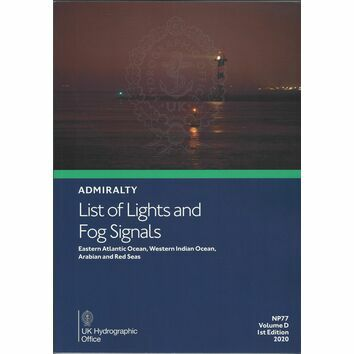 Admiralty NP77 List of Lights and Fog Signals Vol D 1st Edition
